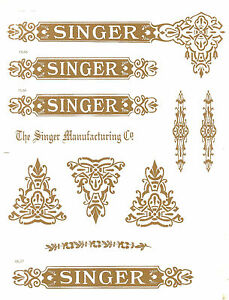 Other Sewing Collectibles Restoration & Care Singer Model 27/127 Celtic Style Sewing Machine Restoration Decals