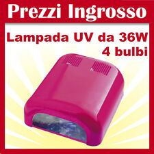 -NOVITA'- LAMPADA UV FUXIA FORNETTO RICOSTRUZIONE UNGHIE NAIL ART 36 W. FUCSIA