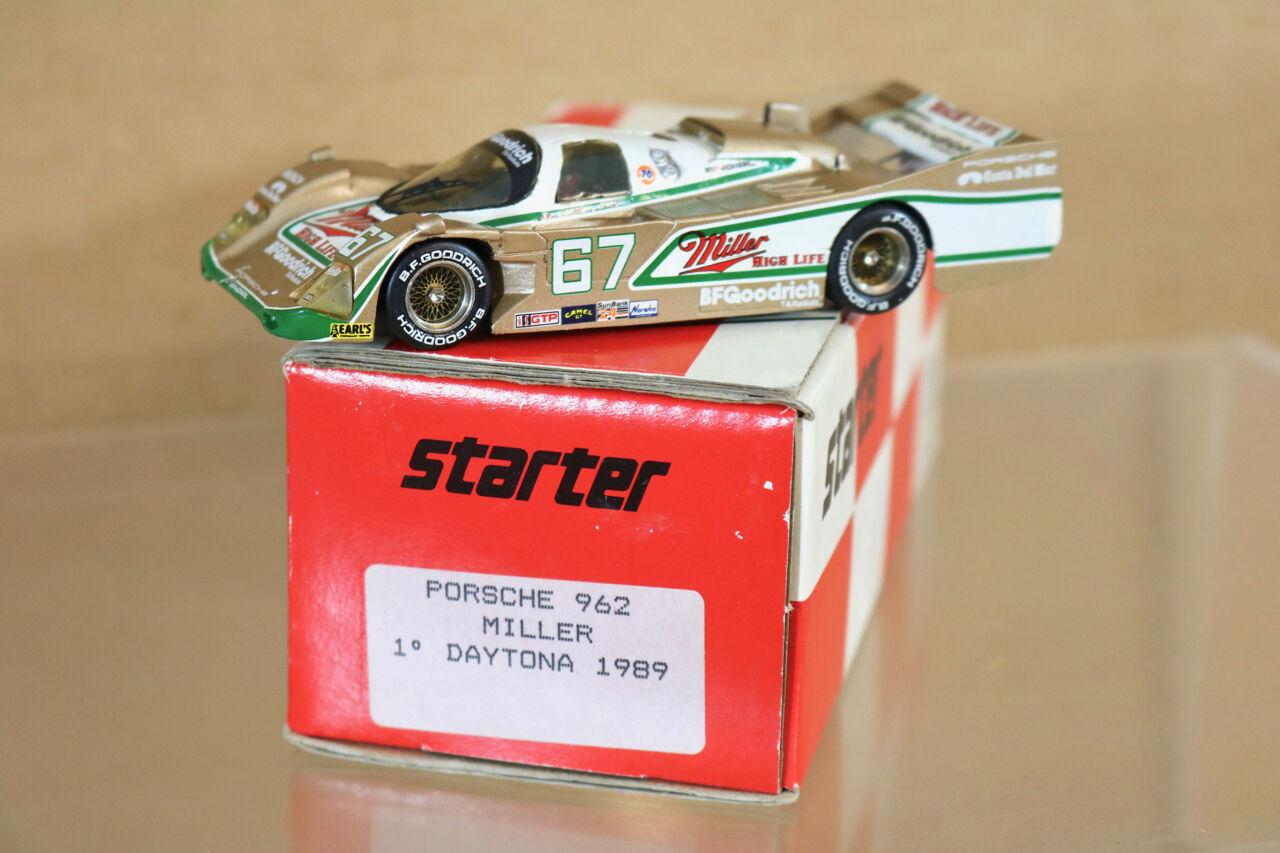 STARTER MODELS DAYTONA 1989 PORSCHE 962 MILLER CAR 67 Wollek Andretti Bell 1st