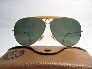 Ray Ban Shooter B L Vintage Sunglasses VTG Bausch   Lomb U.S.A green ... 5e8c398324