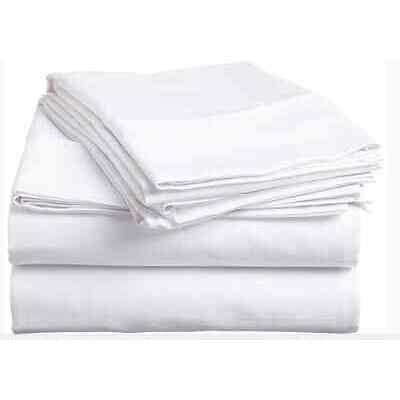 1 NEW WHITE STANDARD SIZE PILLOWCASE COTTON BLEND T-130 PREMIUM ELITE **