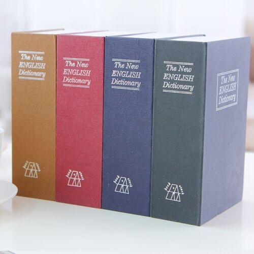 1 X Fake Dictionary Secret Safe Book Cash Key Lock Storage Box Case 18X11.5X5cm