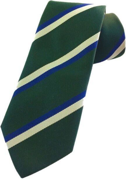 Queens Own Highlanders Regiment Regimental Striped Polyester Pre Tied Bow Tie