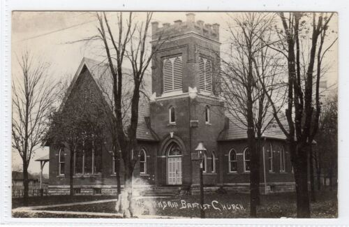 BAPTIST CHURCH, ALEXANDRIA Ohio USA postcard C6370.