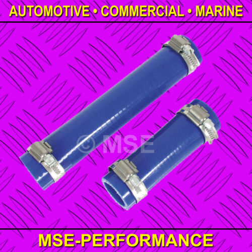 100mm LENGTH BLUE SILICONE HOSE 3-PLY 55mm INNER MSE499//1//BE STAINLESS CLIPS