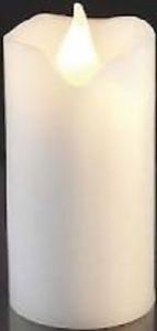 In Vera Cera Candela LED di HELLUM funzionamento a batteria altezza 9,5cm bianco o rosso  </span>