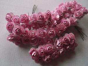 60 Roschen Mini Rosen In Hell Rosa Basteln Hochzeit Deko