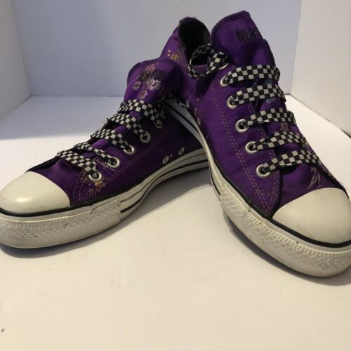Converse All Star Embroidered Satin Sneakers Shoes