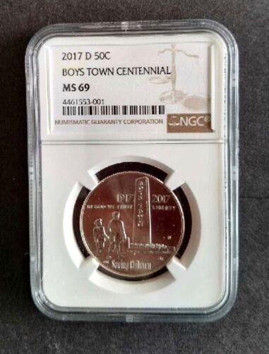2017-D Boys Town Commemorative Half Dollar NGC MS69