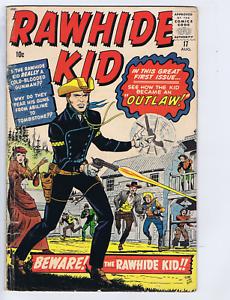 Rawhide Kid #17 Atlas Pub 1960 Beware ! the Rawhide Kid ! Origin of Rawhide Kid!