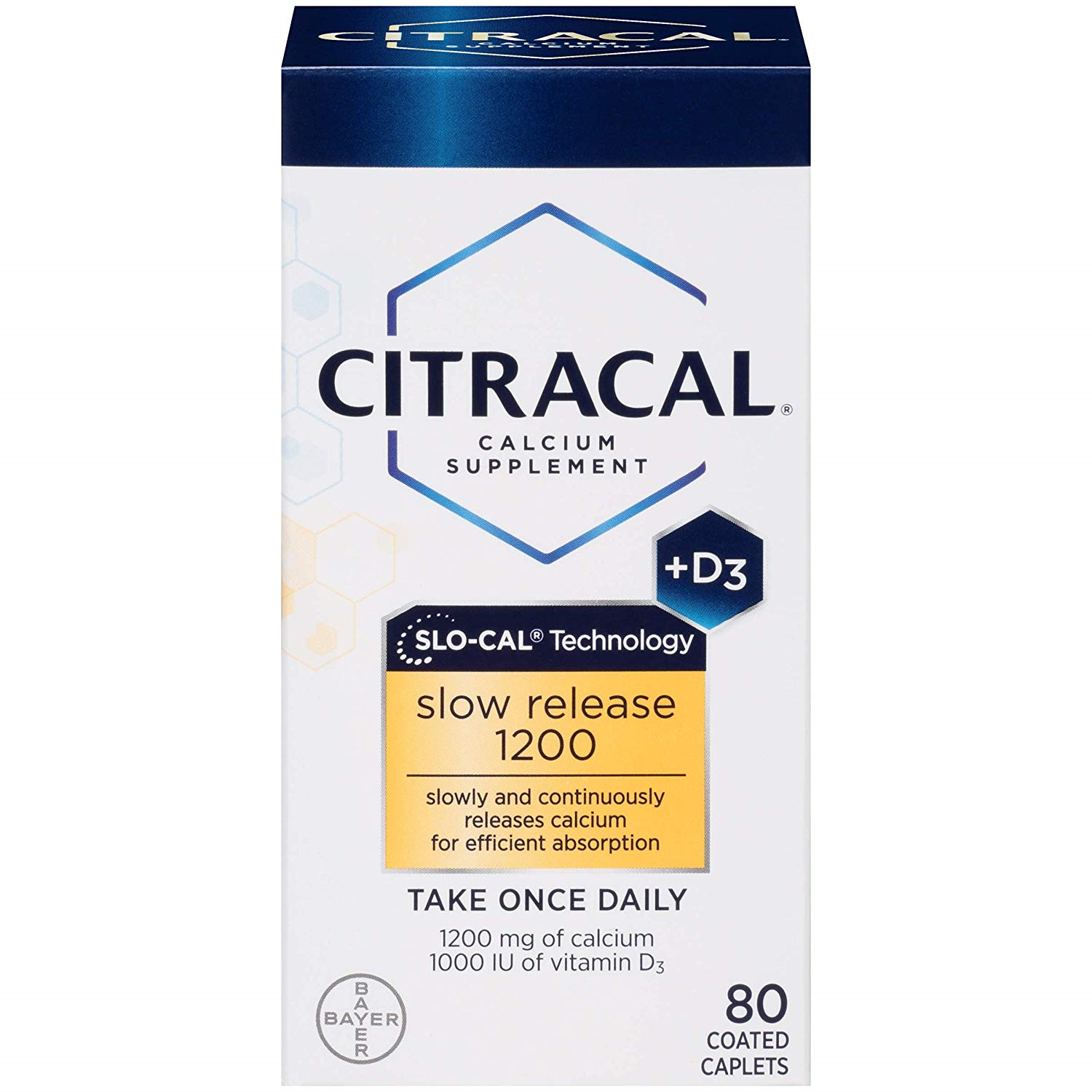 Citracal with Calcium D Slow Release 1200, 80-Count-Free Shi