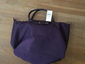 a67cce575d5 Brand New Longchamp Le Pliage Neo Medium Bilberry Crossbody Tote Bag ...