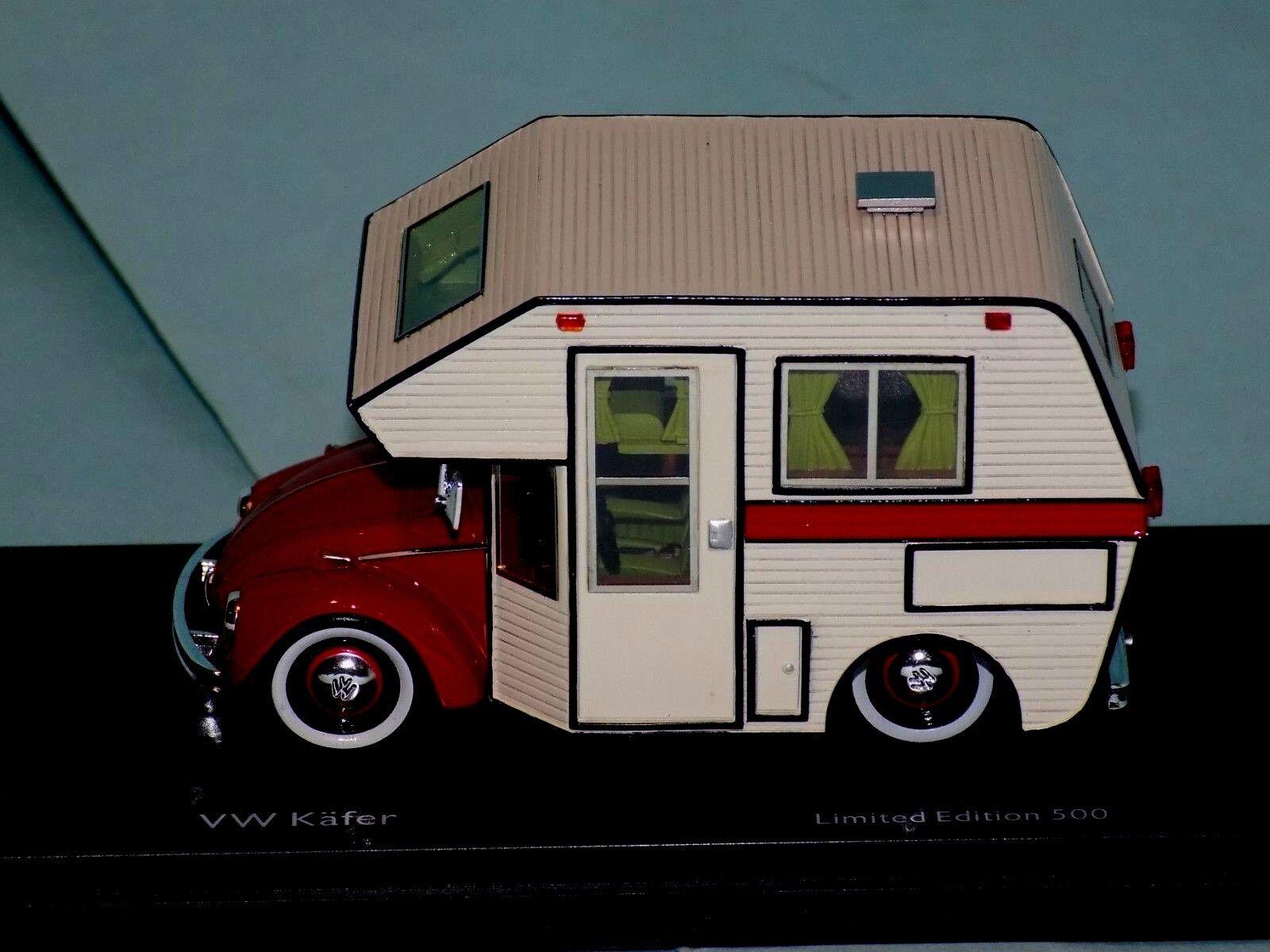 VOLKSWAGEN VW Escarabajo Kafer minihome Autocaravana Schuco 450889800 1 43