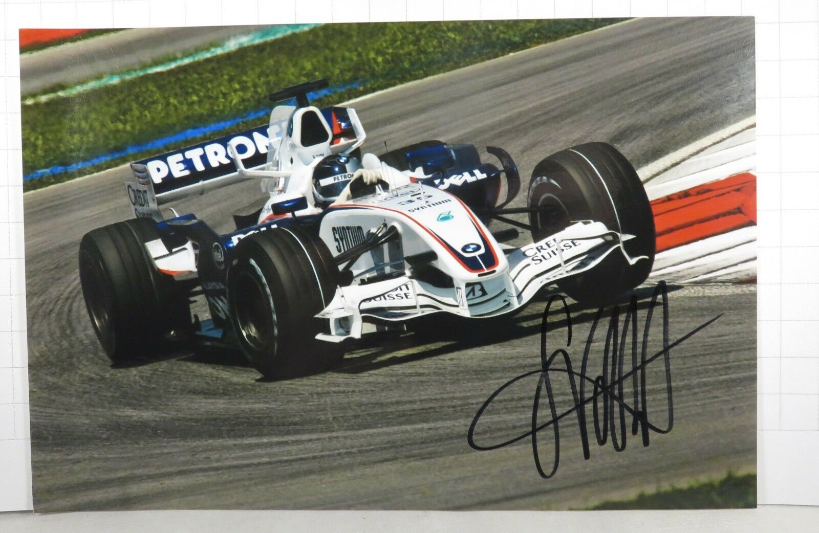 PHOTO cm13x19 signed by  Sebastian Vettel BMW SAUBER F1.07 FP1 MALAYSIAN GP 2007  haute qualité générale