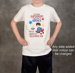 0a53185e Image is loading Personalised-custom-boys-superhero-new-baby-pregnancy- announcement-