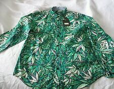Mnwka weed Camo marijuana Button Down Shirt Sz L  M XL New Psychedelic Hash bash