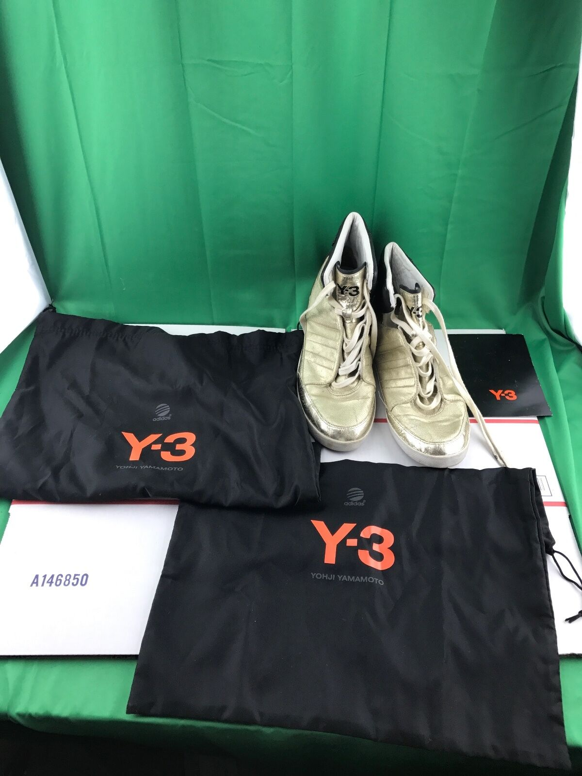 Adidas Boots Y-3 Yohji Yamamoto High Gold Boost Ankle Boots Adidas Sneakers Shoes Sz 8 60c4a9
