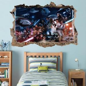 Star Wars Stormtrooper 3D Torn Hole Ripped Wall Sticker Decal Death Star WT403
