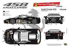 [FFSMC Productions] Decals 1/32 Ferrari F-458 1ere déco 2012 de Scott Tucker