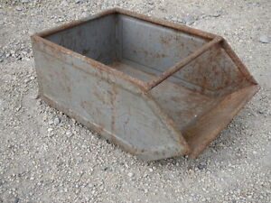 ancienne caisse en fer tiroir m tal d co atelier usine garage old iron drawer ebay. Black Bedroom Furniture Sets. Home Design Ideas