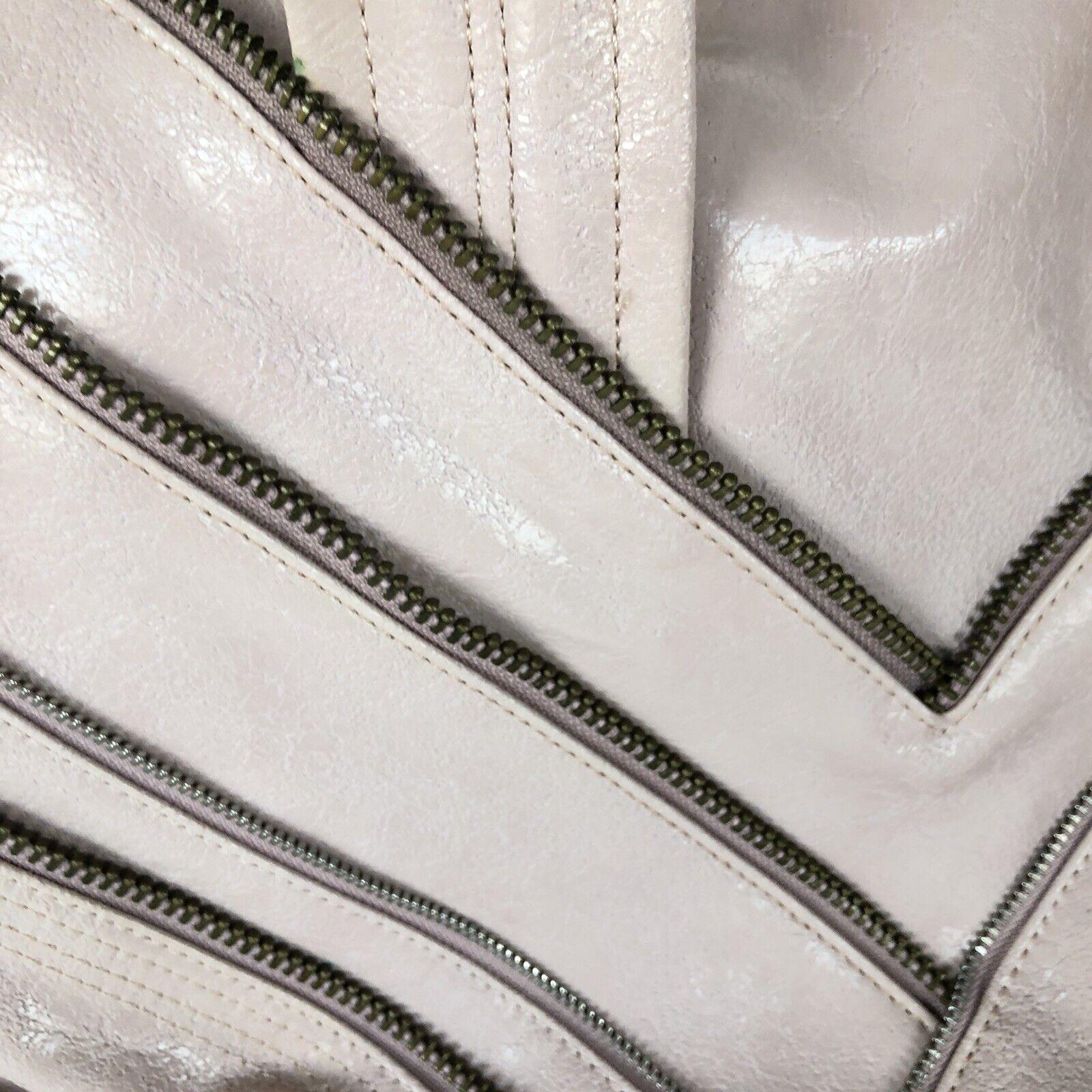 MATT & NAT Dusty Pink Zipper Embellished Crackled… - image 9
