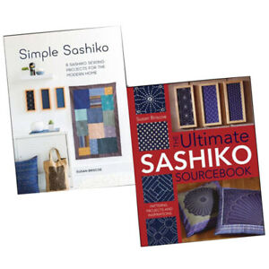 Susan-Briscoe-Sashiko-2-Books-Collection-Set-Sashiko-Sourcebook-Patterns-Project