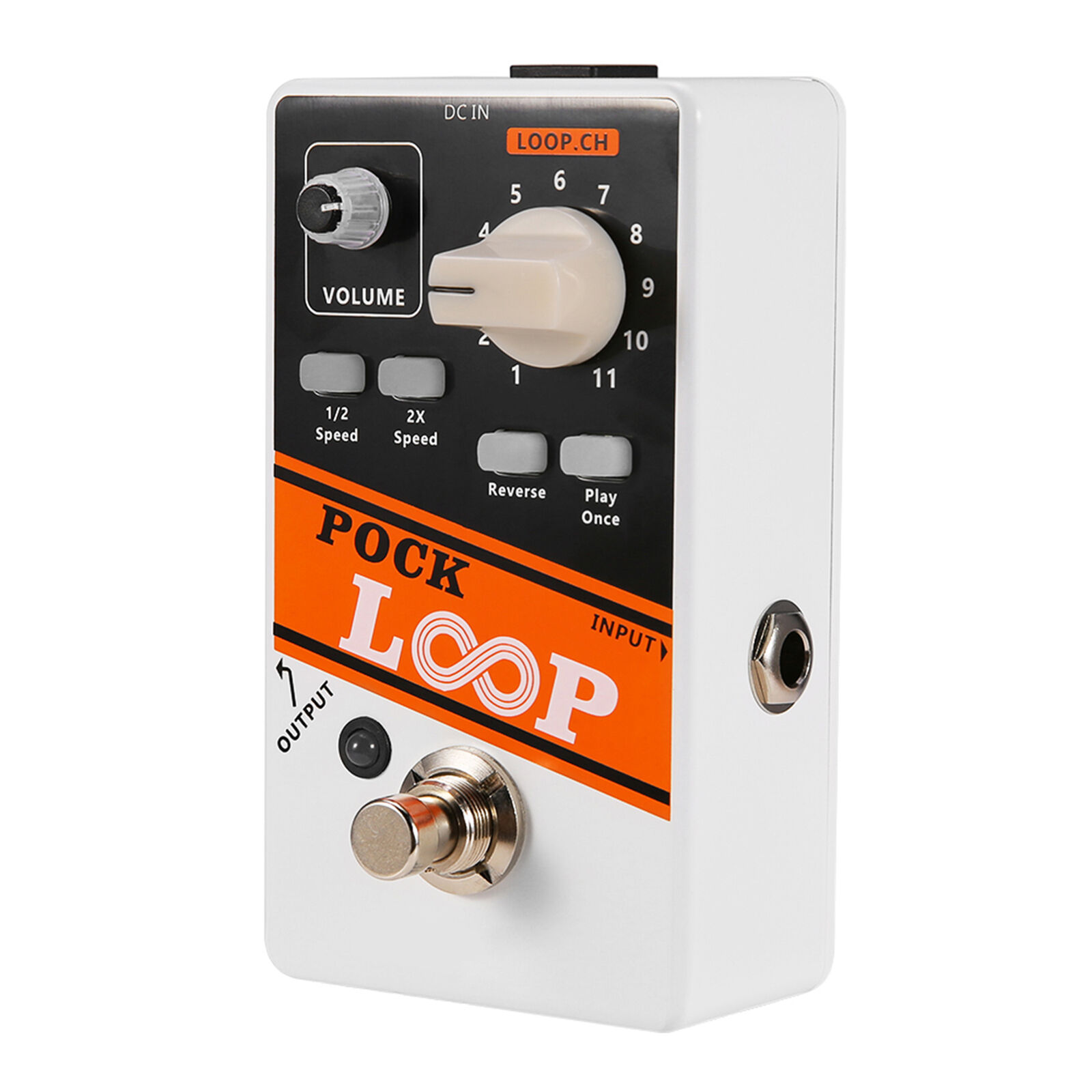POCK LOOP Guitar Effect Looper Pedal True Bypass Max.330mins Recording Time