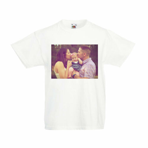 Custom Photo Kid/'s T-Shirt Children/'s Personalised Photograph Boys Girls Top