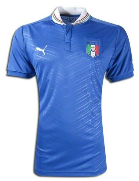Puma  - Italia Official EURO 2012 Home Soccer Jersey Brand New Royal Blau