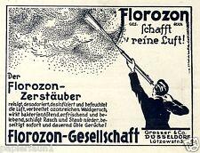 Florozon Zerstäuber Ozon frische Luft Reklame 1928 Düsseldorf Raumdeo Grosser ad