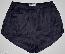 Soffe Black Nylon Running / Track Shorts / Ranger Panties / Silkies Men's Medium
