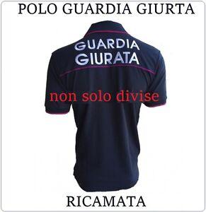 Polo Cotone Ricamata Nuovo Modello per Guardia Giurata Modello PS Art.POLO-GG-P