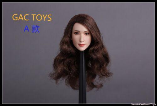 1//6 GACtoys Accessory Europe Beauty Female Long Hair Head Sculpt GC008 A Ver.