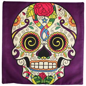 Sugar Skull Cushion Cover Dead Pillow Flower Muertos Homewares Retro Vintage