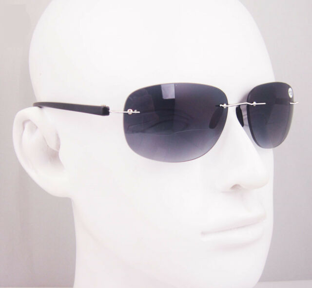 TR90 Bifocal Rimless Flexible Reading Glasses Sunglasses Sun readers +1.5 +2 +3