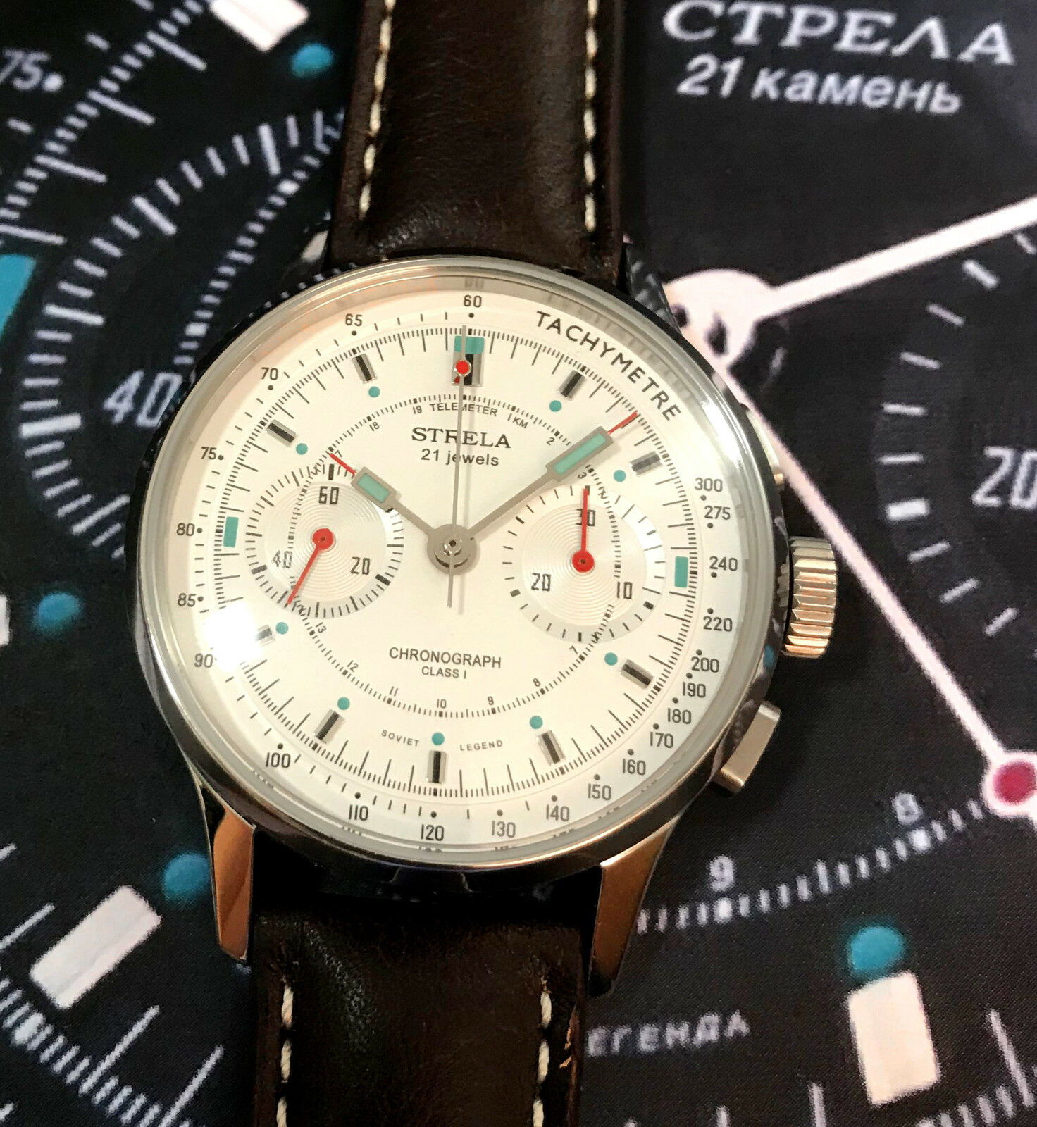 STRELA CHRONOGRAPH 40mm. CALIBRE ST19 MANUAL