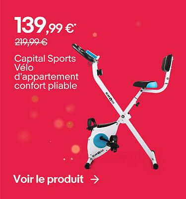 Capital Sports Vélo d'appartement confort pliable - 139,99 €*