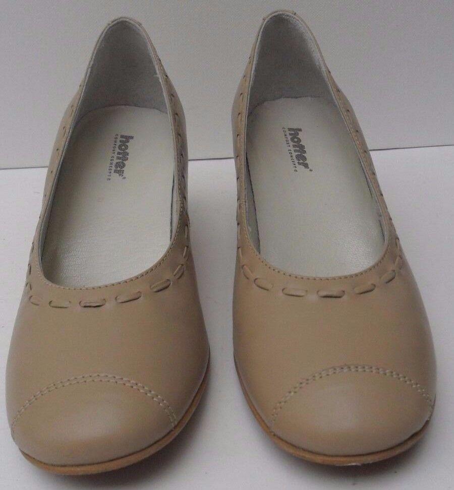Womens Hotter Comfort Concept Heel Panache JAG Beige Mid Heel Concept Shoe - Size d5435d