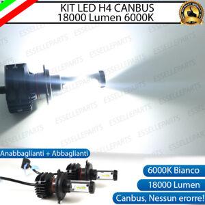 KIT LED H4 6000K CANBUS XENON 18000 LM LUMEN REALI FORD RANGER 3 NO AVARIA LUCI