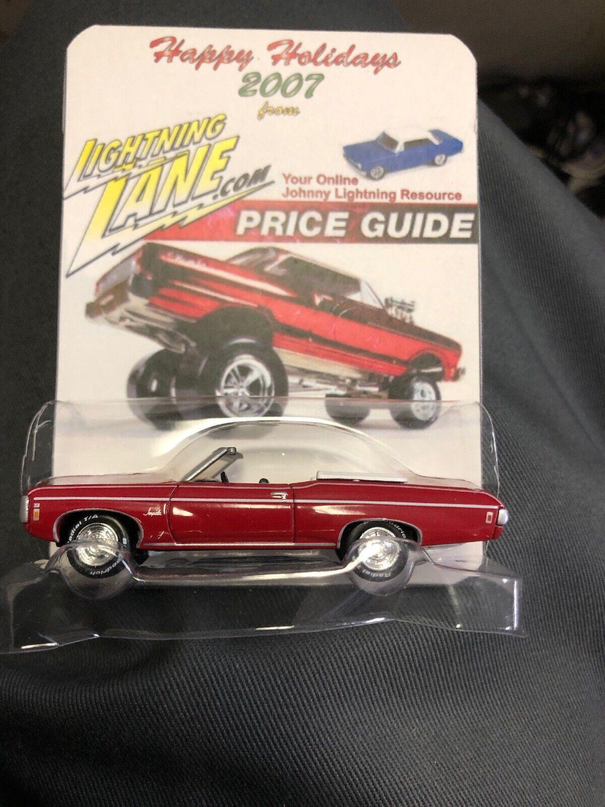 Johnny Lightning 2007 Happy Holidays 1969 Chevy Impala Predo-Type