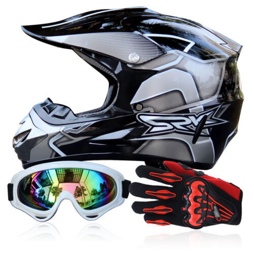 Goggles+Gloves S-XL DOT Off-Road ATV Helmets Dirt Bike Gear Motocross