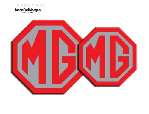 MG TF 2009 Onwards Front Rear Insert Badges To Fit 70mm 90mm Emblems 19 Colours