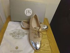 Peter Kaiser Women's Bonda 100% Leather & Suede Brogue UK4 with Dust Bag Boxed