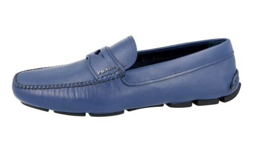 44 Prada 5 Loafer 2dd001 Shoes Blu Penny 10 44 Nuovo Luxury Saffiano Nuovo 4wPd4A