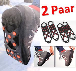 3in1 SPIKES 40 - 42 Schuhe 2er Pack | Grips Spikes Eiskrallen Winter Stiefel