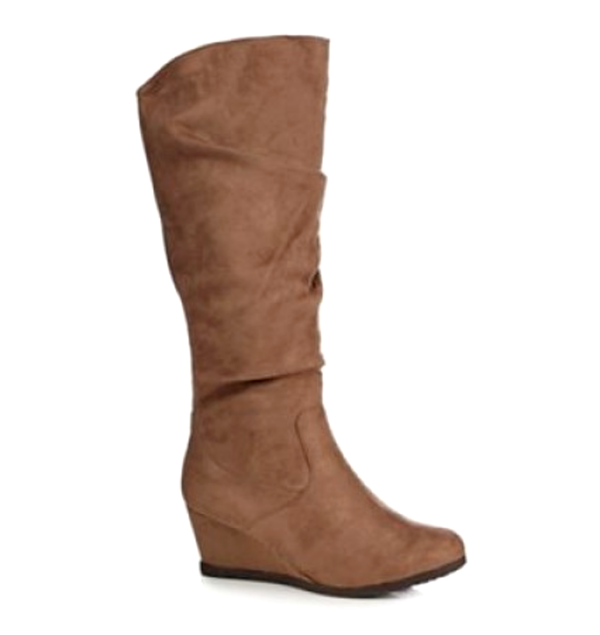 Good for the Sole femmes UK 3 Wide Taupe Suedette Giselle Wedge Knee High bottes