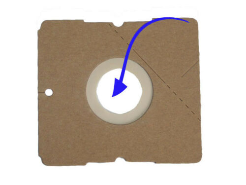 10 Sacchetto per aspirapolvere per Alaska VC vc3701 3701-5-Lagen tessuto non tessuto 615