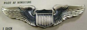 usaf air force aviation pilot wings badge miniature ebay. Black Bedroom Furniture Sets. Home Design Ideas