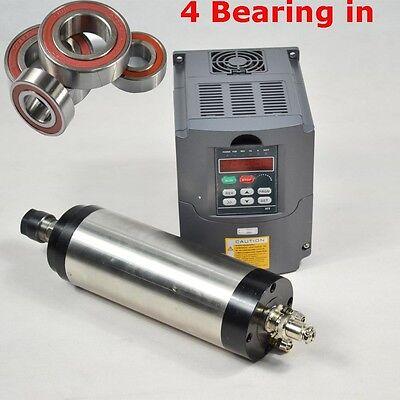 CNC MILLING 2.2KW WATER COOLED SPINDLE MOTOR ER20& 2.2KW MATCHED INVERTER VFD