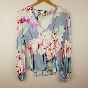 Jaase-Top-Size-S-Long-Sleeve-Floral-Print